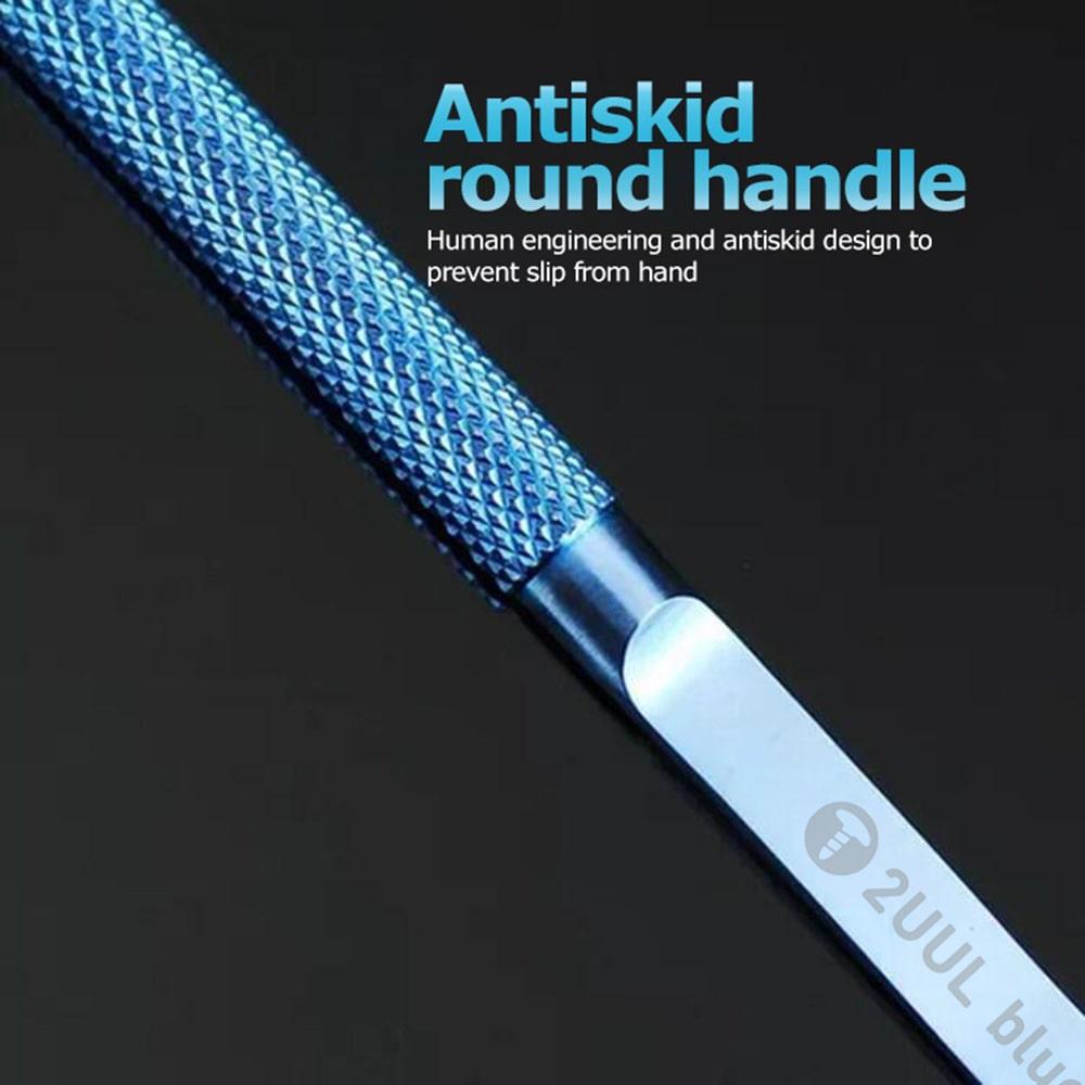 2UUL blueT Straight Head Titanium Alloy 0.1mm Blue Tweezer for Precise Wire Jump