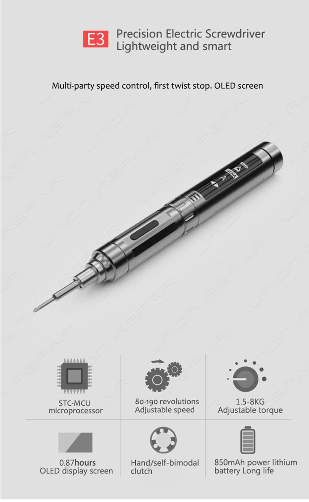 ATuMan E3 Multifunctional Intelligent Digital Electric Screwdriver Set