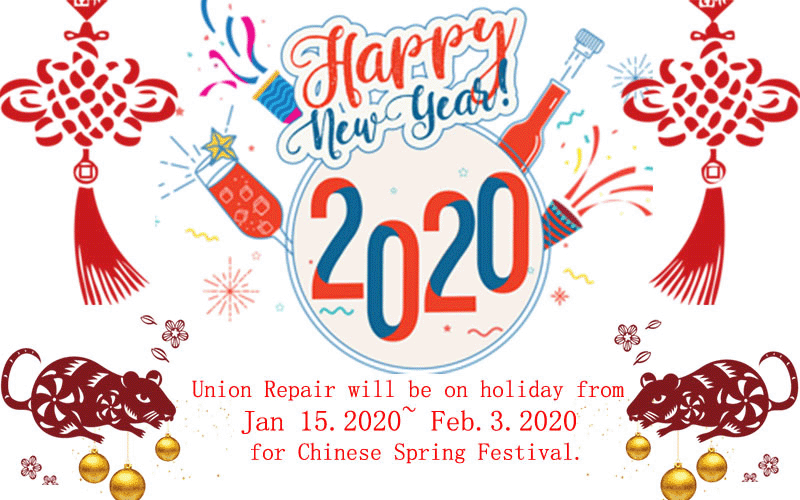 2020 Chinese Year Holiday Notice
