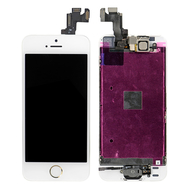 Replacement for iPhone 5S LCD Screen Full Assembly with Gold Ring - White