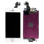 Replacement for iPhone 5S LCD Screen Full Assembly with Silver Ring - White