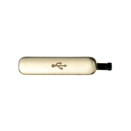Replacement for Samsung Galaxy S5 Charging Port Cover - Gold
