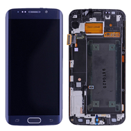 Replacement for Samsung Galaxy S6 Edge SM-G925 LCD Screen and Digitizer Assembly with Frame - Sapphire