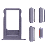 Replacement for iPhone 6S Plus Side Buttons Set with SIM Tray - Grey