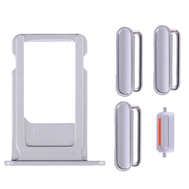 Replacement for iPhone 6S Side Buttons Set with SIM Tray - Silver