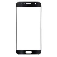 Replacement for Samsung Galaxy S7 Front Glass Lens Replacement With Logo - Black