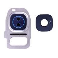 Replacement for Samsung Galaxy S7/S7 Edge Rear Camera Holder with Lens - Silver