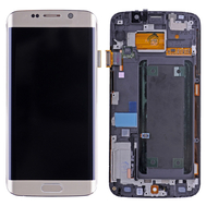 Replacement for Samsung Galaxy S6 Edge SM-G925 LCD Screen and Digitizer Assembly with Frame - Gold
