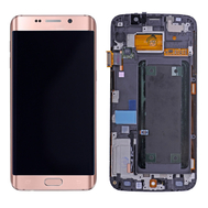 Replacement for Samsung Galaxy S6 Edge SM-G925A LCD Screen and Digitizer Assembly with Frame - Rose