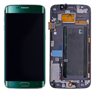 Replacement for Samsung Galaxy S6 Edge SM-G925 LCD Screen and Digitizer Assembly with Frame - Green