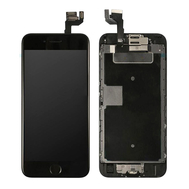 Replacement for iPhone 6S LCD Screen Full Assembly with Black Ring Home Button - Black