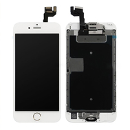 Replacement for iPhone 6S LCD Screen Full Assembly with Gold Ring Home Button - White