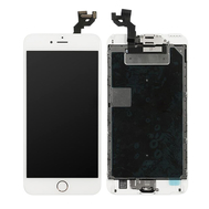 Replacement for iPhone 6S Plus LCD Screen Full Assembly with Rose Ring Home Button - White