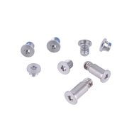 """Silver Bottom Case Screw Set 8pcs for Macbook 12"""" A1534 (Early 2015)"""