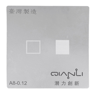 QianLi Taiwan High Precision CPU BGA Reballing Stencil Template 0.12mm for iPhone A8