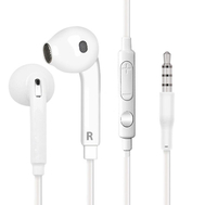 For Samsung Wired 3.5mm White Headset with Microphone EO-EG920BW