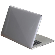 Grey Crystal Shell Plastic Hard Case For Macbook