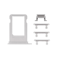 Replacement for iPhone 7 Side Buttons Set with SIM Tray - Silver