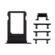 Replacement for iPhone 7 Side Buttons Set with SIM Tray - Black