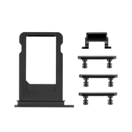 Replacement for iPhone 7 Side Buttons Set with SIM Tray - Jet Black