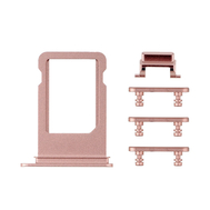Replacement for iPhone 7 Plus Side Buttons Set with SIM Tray - Rose