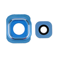 Replacement for Samsung Galaxy S6 Series Camera Lens and Bezel - Aqua Blue