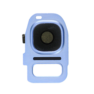 Replacement for Samsung Galaxy S7 Edge Rear Camera Holder with Lens - Blue Coral