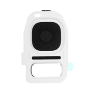 Replacement for Samsung Galaxy S7/S7 Edge Rear Camera Holder with Lens - White