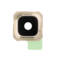 Replacement for Samsung Galaxy S6 Edge Plus Series Rear Facing Camera Lens and Bezel - Gold