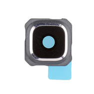 Replacement for Samsung Galaxy S6 Edge Plus Series Rear Facing Camera Lens and Bezel - Silver