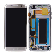 Replacement for Samsung Galaxy S7 Edge SM-G935 Series LCD Screen and Digitizer Assembly with Frame - Silver