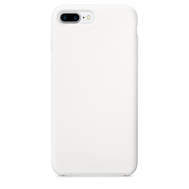 White Silicone Case for iPhone 7 Plus
