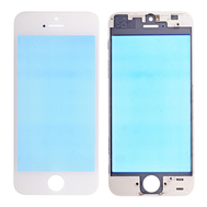 Replacement for iPhone 5 Front Glass with Cold Pressed Frame - White