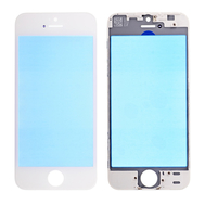 Replacement for iPhone 5S/SE Front Glass with Cold Pressed Frame - White