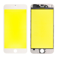 Replacement for iPhone 6 Front Glass with Cold Pressed Frame - White