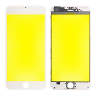 Replacement for iPhone 6 Plus Front Glass with Cold Pressed Frame - White