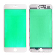 Replacement for iPhone 7 Plus Front Glass with Cold Pressed Frame - White