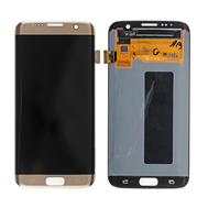 Replacement for Samsung Galaxy S7 Edge SM-G935 Series LCD Screen and Digitizer Assembly with Frame - Gold