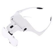5 Lens lupa 1.0X-3.5X Magnifier Adjustable Bracket Headband Glasses #9892B2