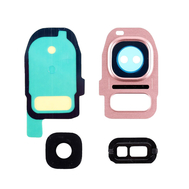 Replacement for Samsung Galaxy S7/S7 Edge Rear Camera Holder with Lens - Rose