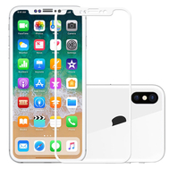 9H White Full Cover Explosion-Proof Tempered Glass Film for iPhone X