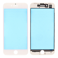 Replacement for iPhone 8 Front Glass Lens with Supporting Frame - White