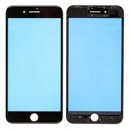 Replacement for iPhone 8 Plus Front Glass Lens with Supporting Frame - Black