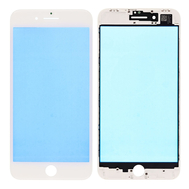 Replacement for iPhone 8 Plus Front Glass Lens with Supporting Frame - White