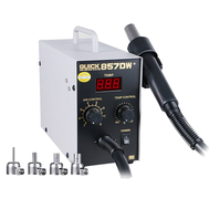 QUICK 857DW+ Lead Free Adjustable Hot Air Heat Gun With Helical Wind Rework Soldering Station 220V