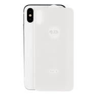4D White Back Cover Screen Full Body Film Tempered Glass for iPhone X