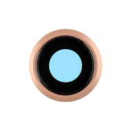 Replacement for iPhone 8 Rear Camera Holder with Lens - Gold