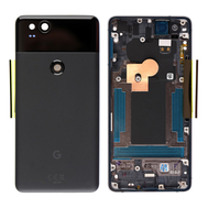Replacement for Google Pixel 2 Battery Door with Rear Housing - Black
