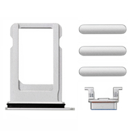 Replacement for iPhone 8/SE 2nd Side Buttons Set with SIM Tray - Silver