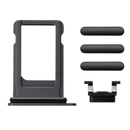 Replacement for iPhone 8 Side Buttons Set with SIM Tray - Black